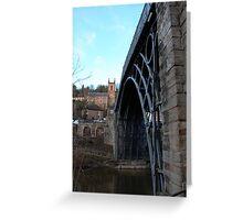 Iron bridge & church  Greeting Card