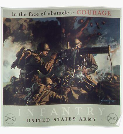 U.S. Infantry Vintage Poster Poster