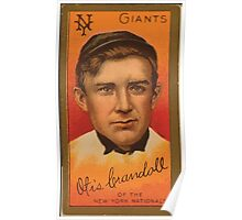 Benjamin K Edwards Collection Otis Crandall New York Giants baseball card portrait Poster