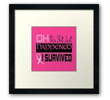 Cancer Survivor Framed Print