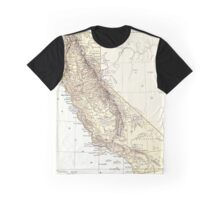 Vintage Map of California (1878)  Graphic T-Shirt