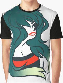 Red Lip Girl Graphic T-Shirt