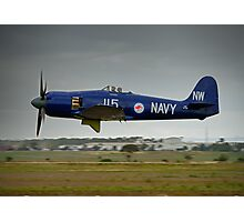 Hawker Sea Fury in flight Photographic Print