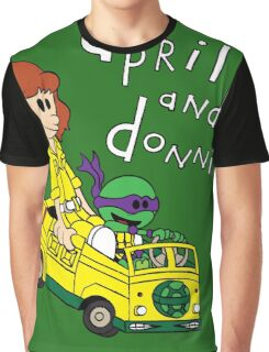 April and Donnie Graphic T-Shirt