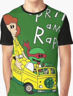 April and Raph Graphic T-Shirt