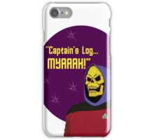 Captain Jean-Luc Skeletor iPhone Case/Skin
