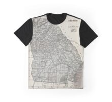 Vintage Map of Georgia (1845)  Graphic T-Shirt