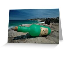 One Green Bottle @ Sculptures By The Sea Greeting Card