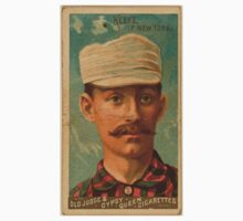 Benjamin K Edwards Collection Tim Keefe New York Giants baseball card portrait One Piece - Long Sleeve