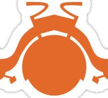Orange Tricycle Sticker