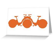 Orange Tricycle Greeting Card