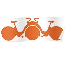 Orange Tricycle Poster
