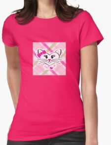 HeartKitty Plaid Love Cat T-Shirt