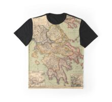 Vintage Map of Greece (1903)  Graphic T-Shirt