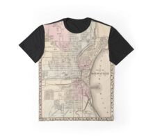 Vintage Map of Milwaukee (1880) Graphic T-Shirt