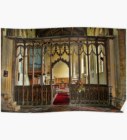 St Mary The Virgin, Tunstead - Rood Screen Poster