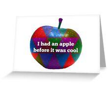 Hipster Apple Greeting Card