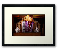 Instrument - Accordian - The accordian organ  Framed Print