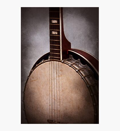 Instrument - String - A typical banjo  Photographic Print