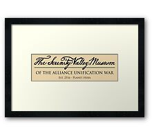 The Serenity Valley Museum Framed Print