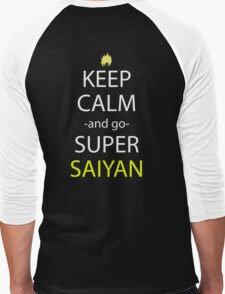 keep calm and super saiyan anime manga shirt Men's Baseball ¾ T-Shirt