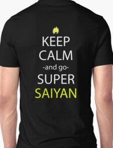 dragon ball z keep calm and super saiyan anime manga shirt T-Shirt