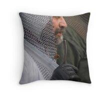 Old sword man Throw Pillow