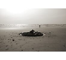 Lonely Sandcastle Photographic Print