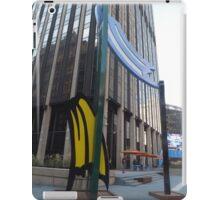 "Roy Lichtenstein Sculpture, ""Brushstroke Group"", Penn Plaza, New York City iPad Case/Skin"