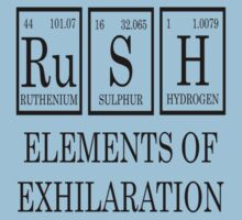 RUSH Elements Of Exhilaration Periodic Table Tee Kids Clothes