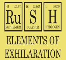 RUSH Elements Of Exhilaration Periodic Table Tee Kids Tee