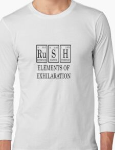 RUSH Elements Of Exhilaration Periodic Table Tee Long Sleeve T-Shirt