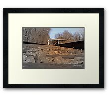 Railway in the evening Framed Print