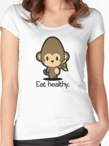 Farm Babies - Eat healthy. Women's Fitted Scoop T-Shirt