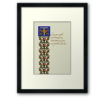 Zapfino version - The Tree Grew Apples 3 Framed Print
