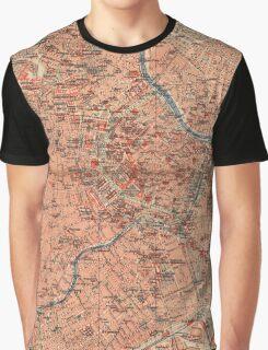 Vintage Map of Vienna Austria (1920) Graphic T-Shirt