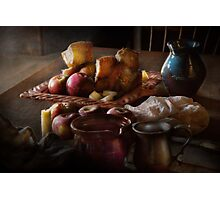 Chef - Food - A tribute to Rembrandt - Apples and Rolls  Photographic Print