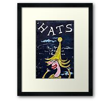 Hats on the Wall Framed Print