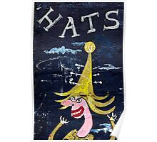 Hats on the Wall Poster
