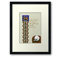 Zapfino Version - But high in the branches 4 Framed Print