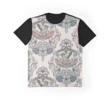 Woodland Birds - hand drawn vintage illustration pattern in neutral colors Graphic T-Shirt