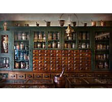 Pharmacy - Right behind the counter Photographic Print