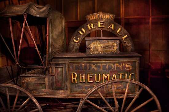 Pharmacy - The Rheumatic Cure wagon  by Mike  Savad