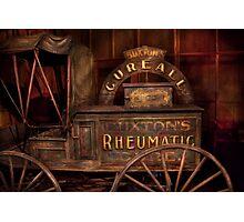 Pharmacy - The Rheumatic Cure wagon  Photographic Print