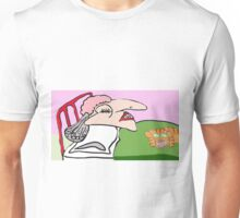 The Noisy Snoring Spinster And Her Unhappy Cat Unisex T-Shirt