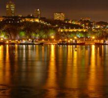 Night View of the Quebec City Skyline Sticker