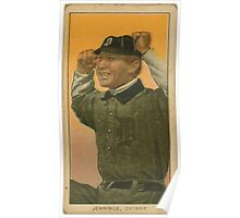 Benjamin K Edwards Collection Hughie Jennings Detroit Tigers baseball card portrait 001 Poster