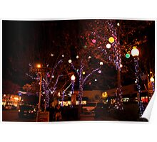 Delaware and Fourth at Christmas Poster