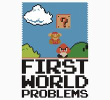 First World Problems (Black) Kids Tee