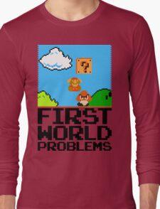 First World Problems (Black) Long Sleeve T-Shirt